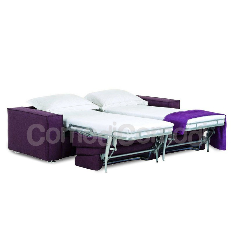 Artemide divano letto gemellare 2x mat 70cm ribaltabile for Divano letto ribaltabile