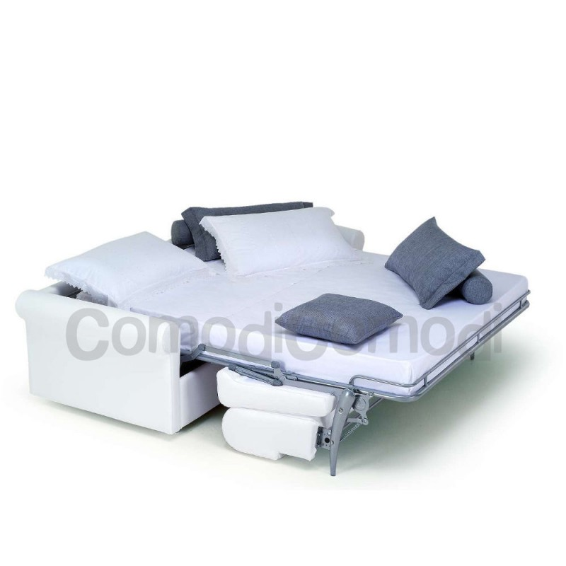 Ermes - Divano letto 3p - Mat 140cm - ribaltabile