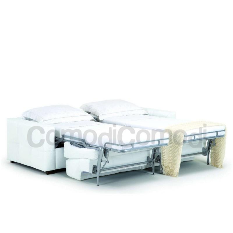 Eureka divano letto gemellare 2 letti singoli mat 70cm for Divano letto ribaltabile