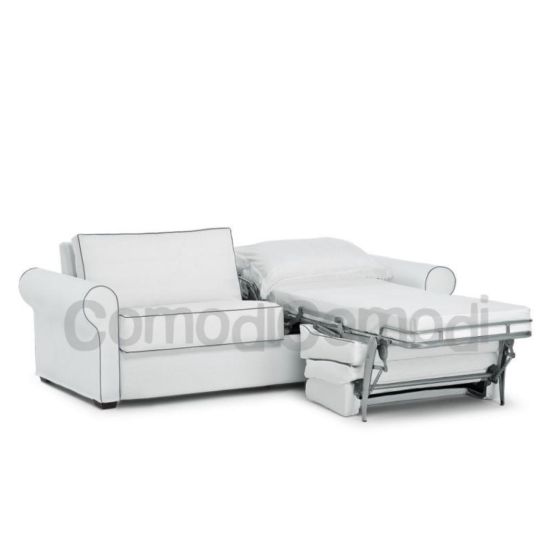 Nube divano letto gemellare 2 letti singoli mat 70cm for Divano letto ribaltabile