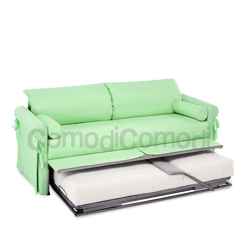 Calipso letto estraibile divano doppio letto mat h 20cm l 190cm - Letto doppio estraibile ...
