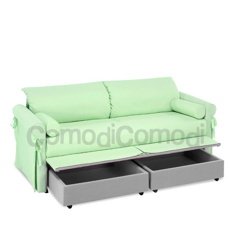 Calipso letto estraibile divano doppio letto mat h 20cm l 190cm - Letto estraibile usato ...