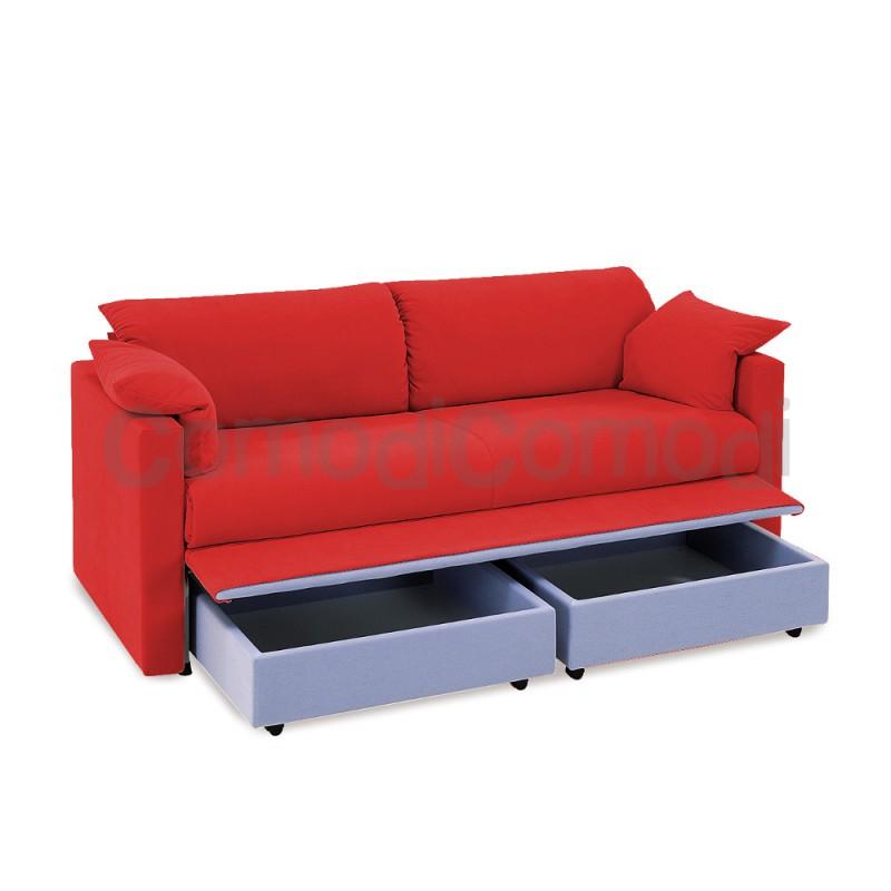 Medusa letto estraibile divano doppio letto mat h 20cm l 190cm - Letto doppio estraibile ...