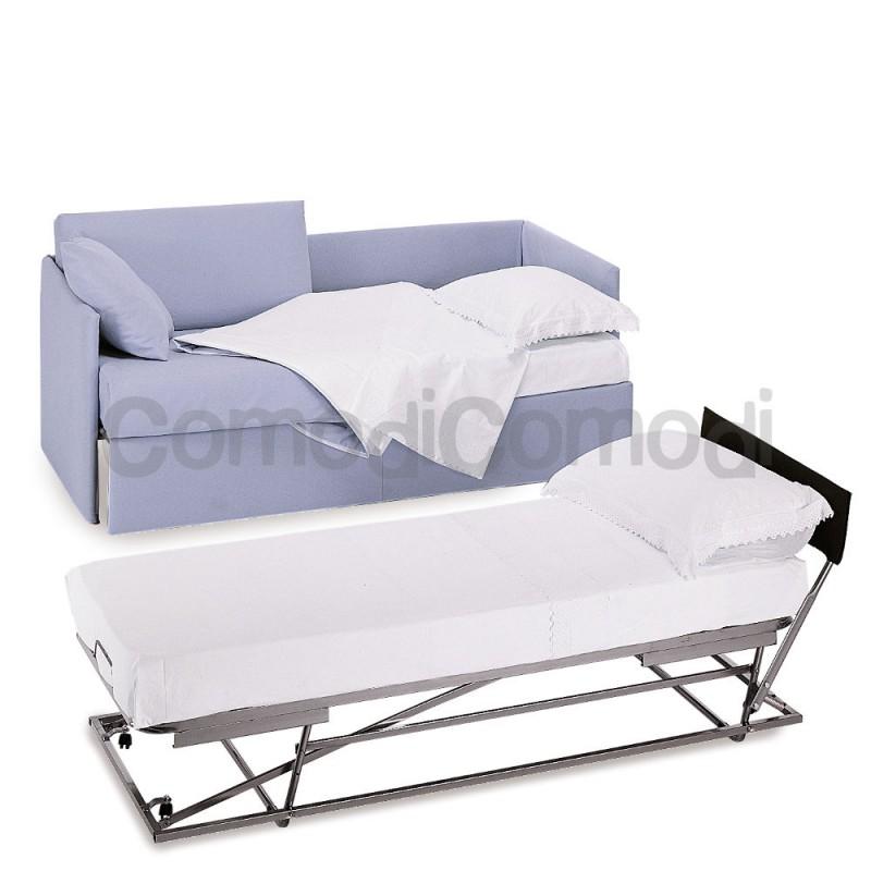 Nestore letto estraibile divano doppio letto mat h for Doppio letto estraibile