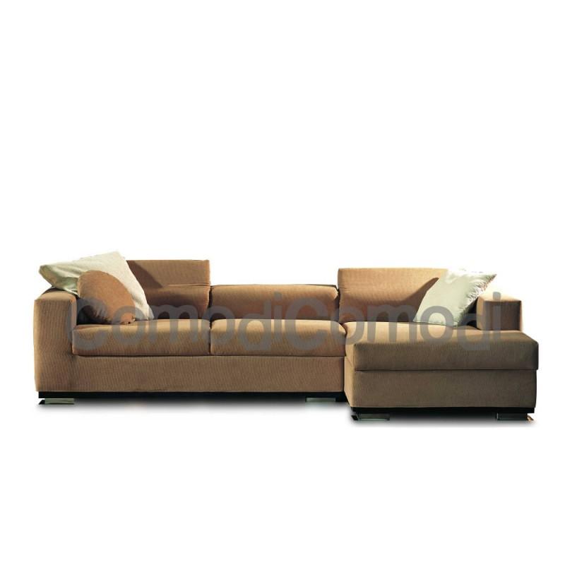 Clitos divano letto 3p chaise longue box mat 140cm 2 - Divani letto chaise longue ...