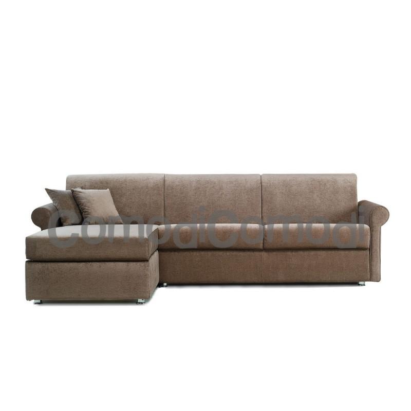 Ermes divano letto 3p chaise longue box mat 140cm - Divani letto con chaise longue ...