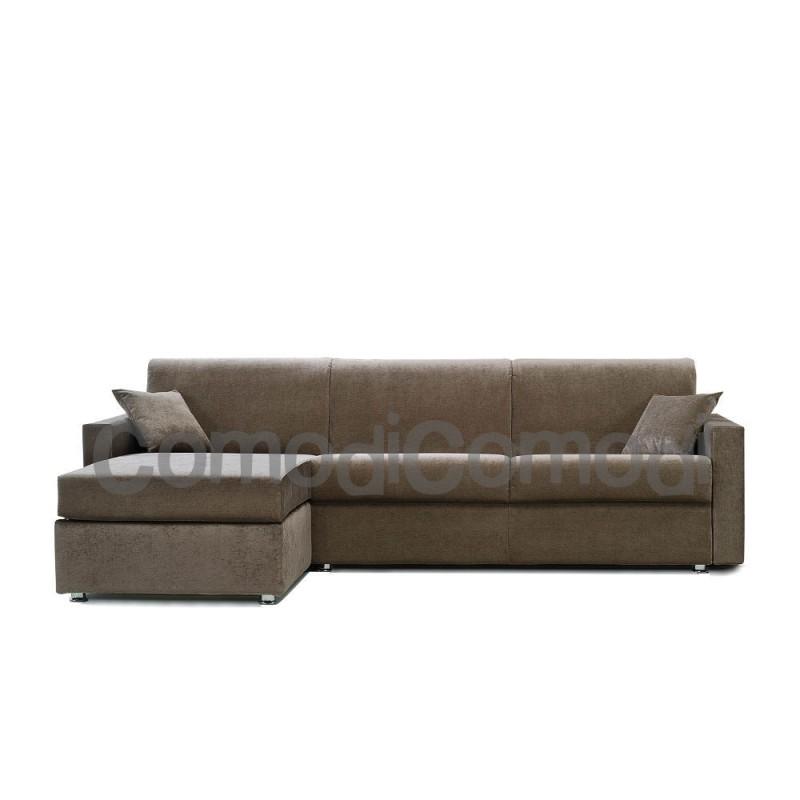 Idea - Divano letto 3p chaise longue box - Mat 140cm - ribaltabile