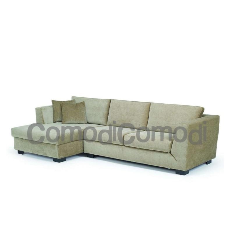 Pepe - Divano letto 3p chaise longue box - Mat 140cm - 2 pieghe