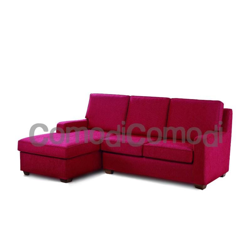 Scarjo - Divano letto 3p chaise longue box - Mat 140cm - 3 pieghe