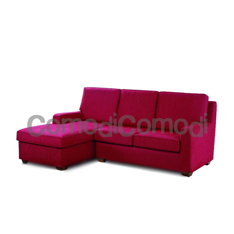 Scarjo - Divano letto 2p chaise longue - Mat 100cm - 3 pieghe