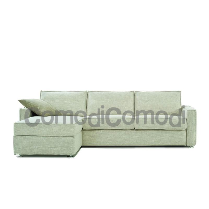 Artemide - Divano letto 2p chaise longue box - Mat 120cm - ribaltabile
