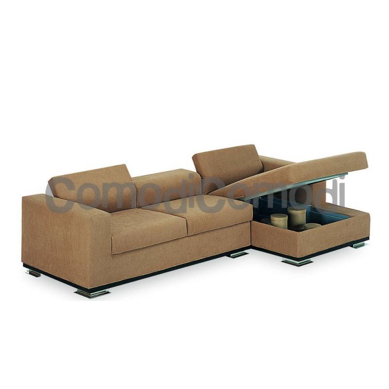 Clitos divano letto 2p chaise longue box mat 105cm 2 - Divani letto con chaise longue ...