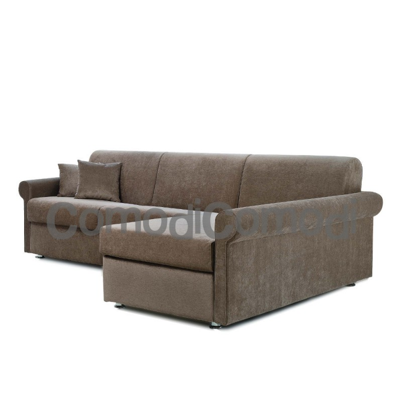 Ermes - Divano letto 2p chaise longue box - Mat 120cm - ribaltabile