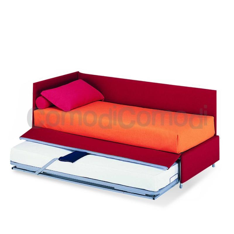 Giocondo letto estraibile divano doppio letto mat h for Doppio letto estraibile